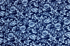 Blaues Blumenmuster Lizenzfreies Stockfoto