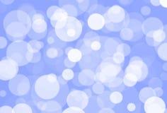 Blaues bokeh Stockfoto