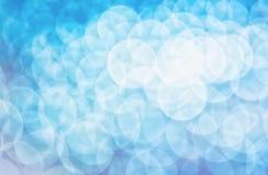 Blaues bokeh Lizenzfreies Stockbild