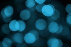 Blaues bokeh extrahieren hellen schwarzen Hintergrund stockbilder