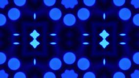 Blaues bokeh Kaleidoskop-Reihenfolgenmuster Abstrakter Grafikhintergrund lizenzfreie abbildung