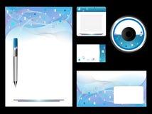 Blaues Briefpapier-Set Stockbild