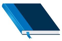 Blaues Buch geschlossen und Bookmark Lizenzfreies Stockbild