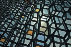Blaues buntes Glas Stockfotos