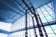 Blaues Ceining und Fenster Stockfotografie