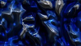 Blaues Chrom lizenzfreie abbildung