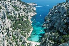 Blaues cliff3 Lizenzfreies Stockfoto