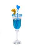 Blaues Cocktail Stockbild
