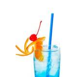 Blaues Cocktail des langen Getränks Stockfoto