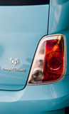 Blaues competizione Abarth - hintere Ansicht Signage Fiats 595 Stockfotografie