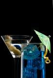 Blaues Curaçao-Cocktail Stockbilder