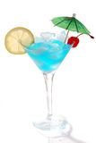 Blaues Curaçao-Cocktail stockbild