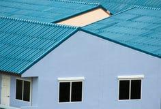 Blaues Dach Stockfoto