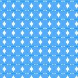 Blaues dekoratives Muster lizenzfreie abbildung