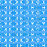 Blaues dekoratives Muster stock abbildung