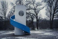 Blaues Dia an einem winterlichen Tag lizenzfreies stockfoto
