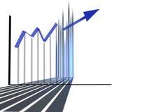 Blaues Diagramm stock abbildung