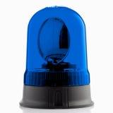 Blaues drehendes Leuchtfeuer Stockfotografie