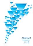 Blaues Dreieckauszugsmuster Stockfoto