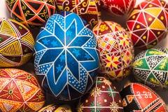 Blaues Ei für Ostern-Feiertag Stockfotografie