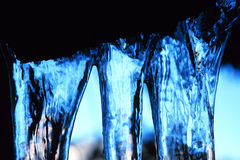 Blaues Eis Stockfoto