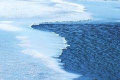 Blaues Eiswasser Stockbild