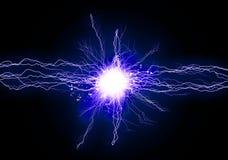 Blaues Energielicht stock abbildung