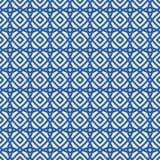 Blaues ethnisches Muster Stockbild