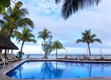 Blaues exotisches Paradies stockfotos