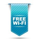 Blaues Fahnendesign geben Wi-Fi frei stock abbildung