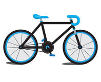 Blaues Fahrrad Lizenzfreies Stockfoto