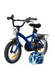 Blaues Fahrrad Stockbild