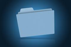 Blaues Faltblatt Lizenzfreie Stockbilder