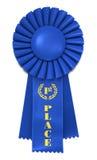 Blaues Farbband für ersten Platz Lizenzfreies Stockfoto