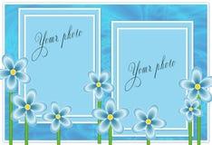 Blaues Feld für Foto Stockfoto