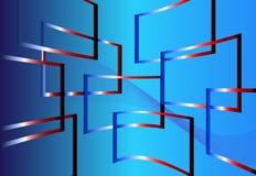 Blaues Fenster Stockfotografie
