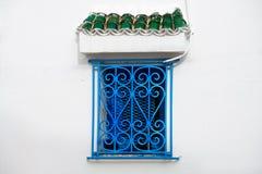 Blaues Fenster Lizenzfreie Stockfotografie