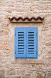 Blaues Fenster Stockbild