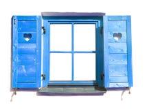 Blaues Fenster. Lizenzfreie Stockbilder