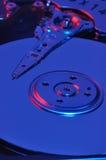 Blaues Festplattenlaufwerk Stockbild