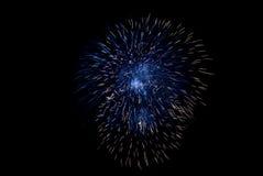 Blaues Feuerwerk Stockfotos