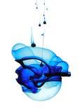 Blaues flüssiges Formular stockfoto