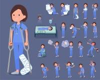 Blaues Flachwomen_sickness Abnutzung der chirurgischen Operation Lizenzfreie Stockbilder