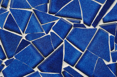 Blaues Fliese-Mosaik Stockbild