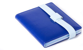 blaues Fotoalbum Stockfotografie