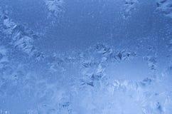 Blaues Frostmuster Lizenzfreies Stockfoto
