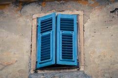 Blaues Geheimnisfenster Lizenzfreie Stockbilder
