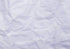 Blaues geknittertes Papier Stockbild