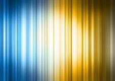 Blaues gelbes gestreiftes Spektrum Stockbilder