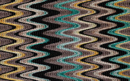 Blaues, gelbes und graues Wellenmuster Stockfotos